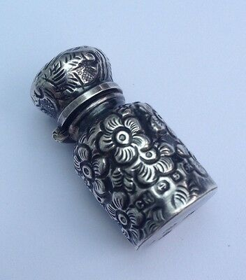 Antique Victorian sterling silver Miniature Scent Bottle