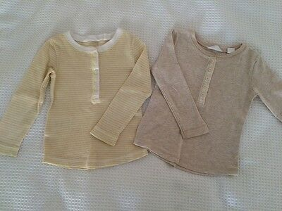 Country Road Baby Henley Tops X 2, 12-18m, EUC