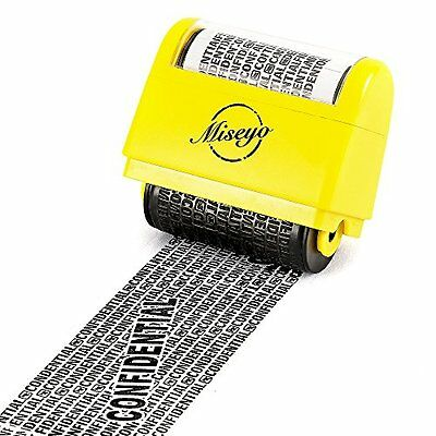 Wide Roller Stamp Identity Theft Stamp1.5 Inch Perfect Privacy Protection Yellow