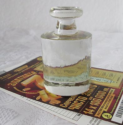 Clear Glass Paperweight (1 kg for balance scales shaped)  -   0.68 lbs weight