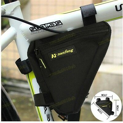 Nanfeng Bicycle Triangle Bag Bike Cycling Front Tube Saddle Frame Pouch UK