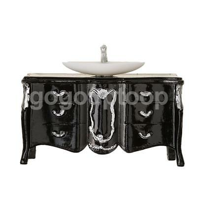 1:25 Scale Washbasin Cabinet Scene Model Cute Sand Table Crafts Toy Black