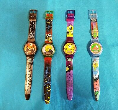 1993 Nightmare Before Christmas Burger King  Promo Watches lot of 4