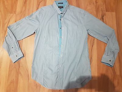 Mens Oxford Dress Shirt Size L Slim fit - business casual long sleeve myer