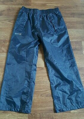 Regatta boys or girls waterproof navy trousers age 7-8 years new