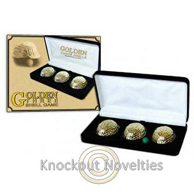 Golden 3 Shell Game Magician Trick Magic Tricks Amaze Perform Disappear Three