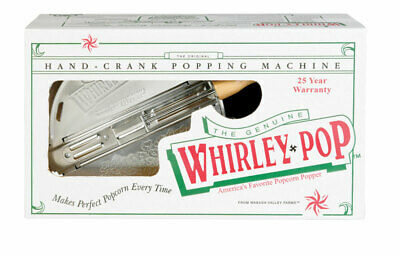 Whirley Pop Stove Top Popcorn Popper Makes 6 Qt. Of Popcorn In Less Than 3 Min B