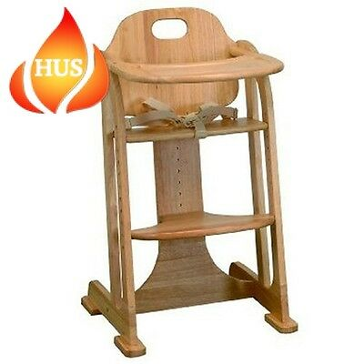 East Coast Multi Height Highchair Natural All Wood