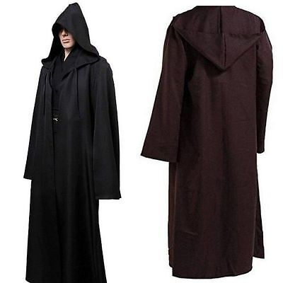 Adult Hooded Cloak Wicca Sorcier Medieval Witchcraft Cape tenue rituelle