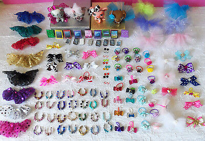 Littlest Pet Shop LPS RANDOM Lot of 8 Custom Clothes Cellphone Handmade  #7-1
