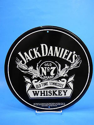 "Jack Daniels Whiskey old NO 7 12"" round heavy duty metal sign Man Cave Bar Home"