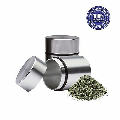 2X Stash Jar - 16th - Portable Aluminum Herb Smell Proof Container - Silver