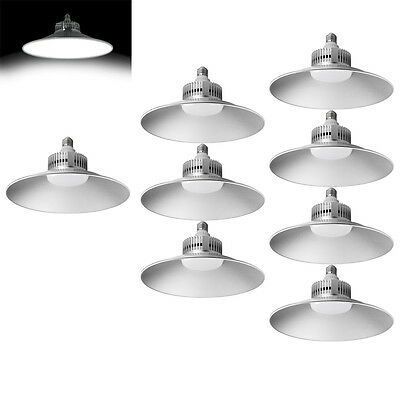 8X 50W LED High Bay Light E27  Comercial Factory Warehouse Industrial Day White