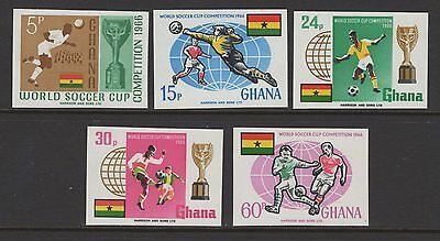 Ghana Sg429/33 1966 Football World Cup Imperf Mnh