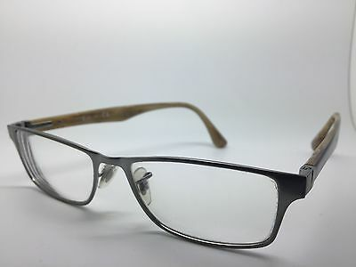 RAY BAN Brushed Steel & Purple Used Glasses Eyeglasses Eyeglass Frames
