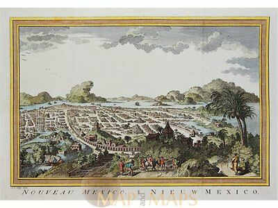 Nouveau Mexico - Old print Nieuw Mexico by Bellin 1758