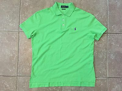 New Polo By Ralph Lauren Pima Stretch Mesh S/s Polo Shirt Mens Size L