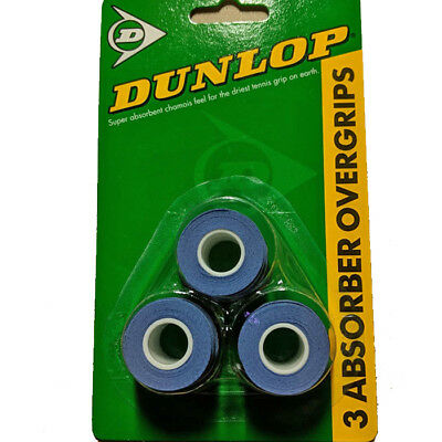 Dunlop Absorber Tennis / Squash Overgrips - 3 Pack
