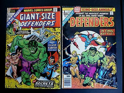 The Defenders Lot Of 2 Low Grade Key #1 Issues