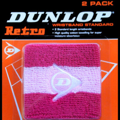 Dunlop Retro Wristband Twin Pack - Pink