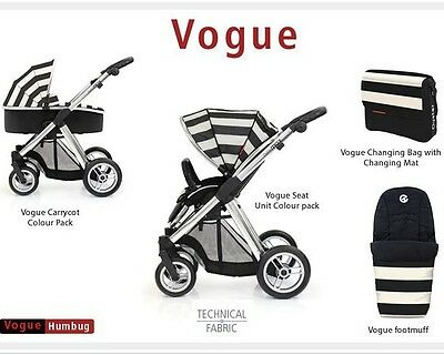 Babystyle Oyster Carrycot Vogue Colour Packs  - Humbug NEW various types