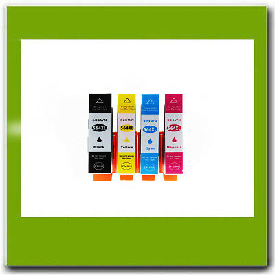 4PK Compatible HP 564XL Ink Cartridge Combo Set BK/C/M  Photosmart 7510 6350