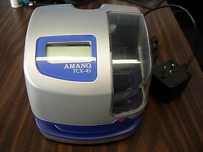 Amano TCX-45 Commercial Digital Time Clock Stamp Recorder