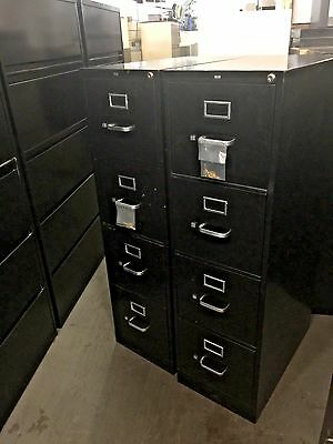 4 DRAWER LETTER SIZE FILE CABINET by HON OFFICE FURNITURE MODEL 314P in BLACK