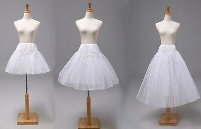 White Short/Tea Length Bridal Crinoline/Petticoat/Slips/Underskirt for Wedding