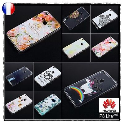 Etui housse coque souple silicone Case Cover Huawei P8 Lite 2017 - Honor 8 Lite