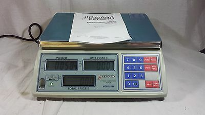 Cardinal Detecto Digital Scale Price Computing Scale Model DS6 6lb TESTED WORKS!