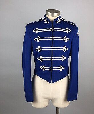 Vintage Blue Union Made Marching Band Jacket Apopka FL Fruhnuf Uniforms 32S