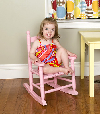 Pink Classic Children's Rocking Chair Wood Toddler Indoor Outdoor Toy Gift Seat