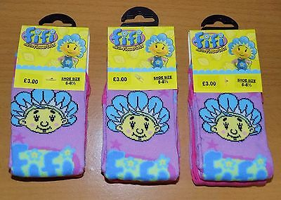 6 Pairs Of Girls Fifi And The Flowertots Socks Sizes: 0-2, 3-5 & 6-8 (R.r.p £9)