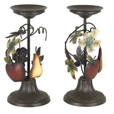 Home Interior Sonoma Villa ~Set Of Two Candle Holders ~Brand New See Picture