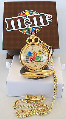 M&m's® 5 Character Pocket Watch W/retention Chain