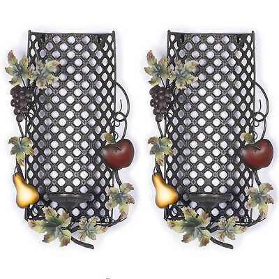 Home Interiors Sonoma Villa Set of 2 SCONCES CANDLE HOLDER  Accents For Pictures