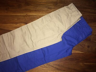 CLEARANCE NEW Mens 001M Russell Work Trousers. Khaki x 120 . E.
