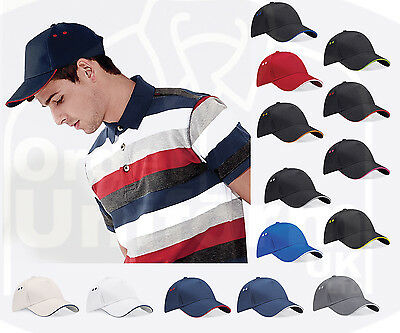 Sandwich Peak Baseball Cap Cotton Sun Summer Contrast Hat Golf Sport Ladies Mens