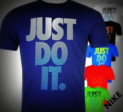 New Nike Large Just Do It Rip Motif T Shirt Cotton Top Size Age 7-13Junior Boy