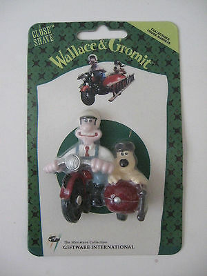 NOS Vintage 1989 Wallace & Gromit 3-D Fridge Magnet Close Shave New/Sealed UK