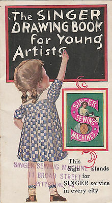 The Singer Drawing Book For Young Artists Singer Sewing Machines Copyright 1928