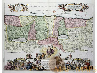 The Promised land of Canaan old map Stoopendaal 1714