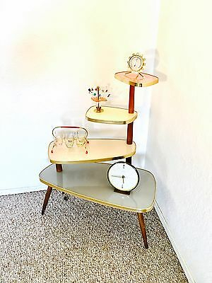 Space Age  Display Table Mid Century Plant Stand  German End Side Table Vintage