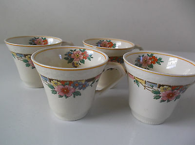 Vintage J & G Meakin England 4 Small Cups