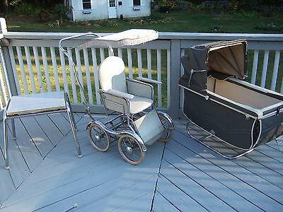Retro Vtg Rex Stroll- o- Chair Pram Baby Stroller w/ instructions Movie Prop