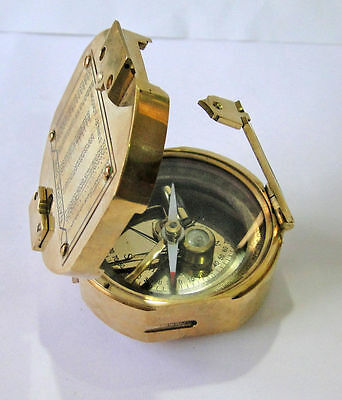 Vintage-Natural-Sine-Nautical-Maritime-Brass-Compass-Stanley of LONDON