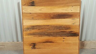 Cafe Table Tops ' Reclaimed Australian Made Solid Hardwood Top ' Size- 800 x 800