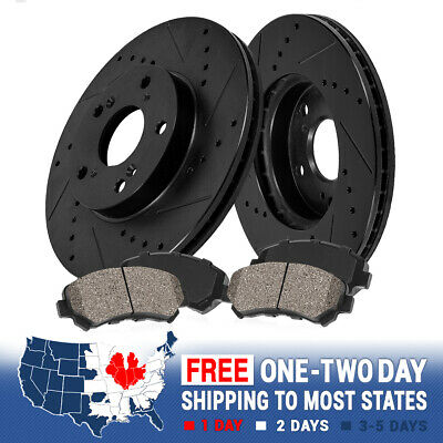 Brake Rotors POWERSPORT DRILLED SLOTTED /& PADS Lexus GS300 FRONT