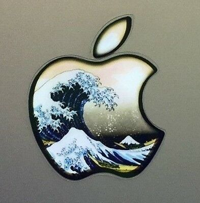 GLOWING HOKUSAI GREAT WAVE Apple MacBook Pro Air Laptop Sticker DECAL 11 to 17in